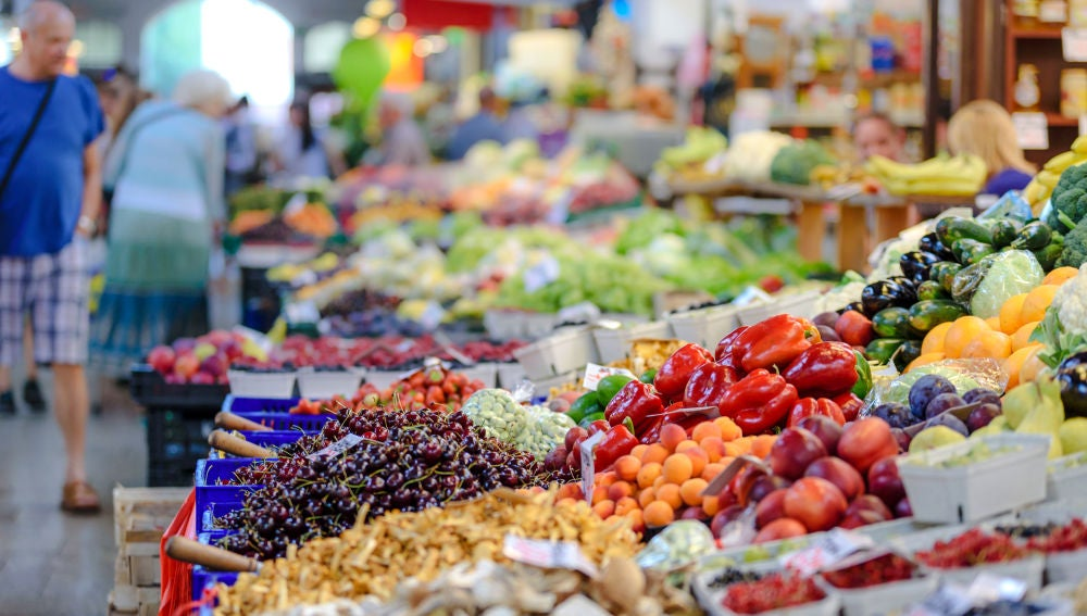 Imagen de archivo de un mercado de alimentos.