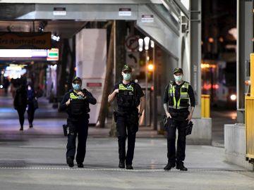 Imagen de archivo de agentes de la Policía en Australia