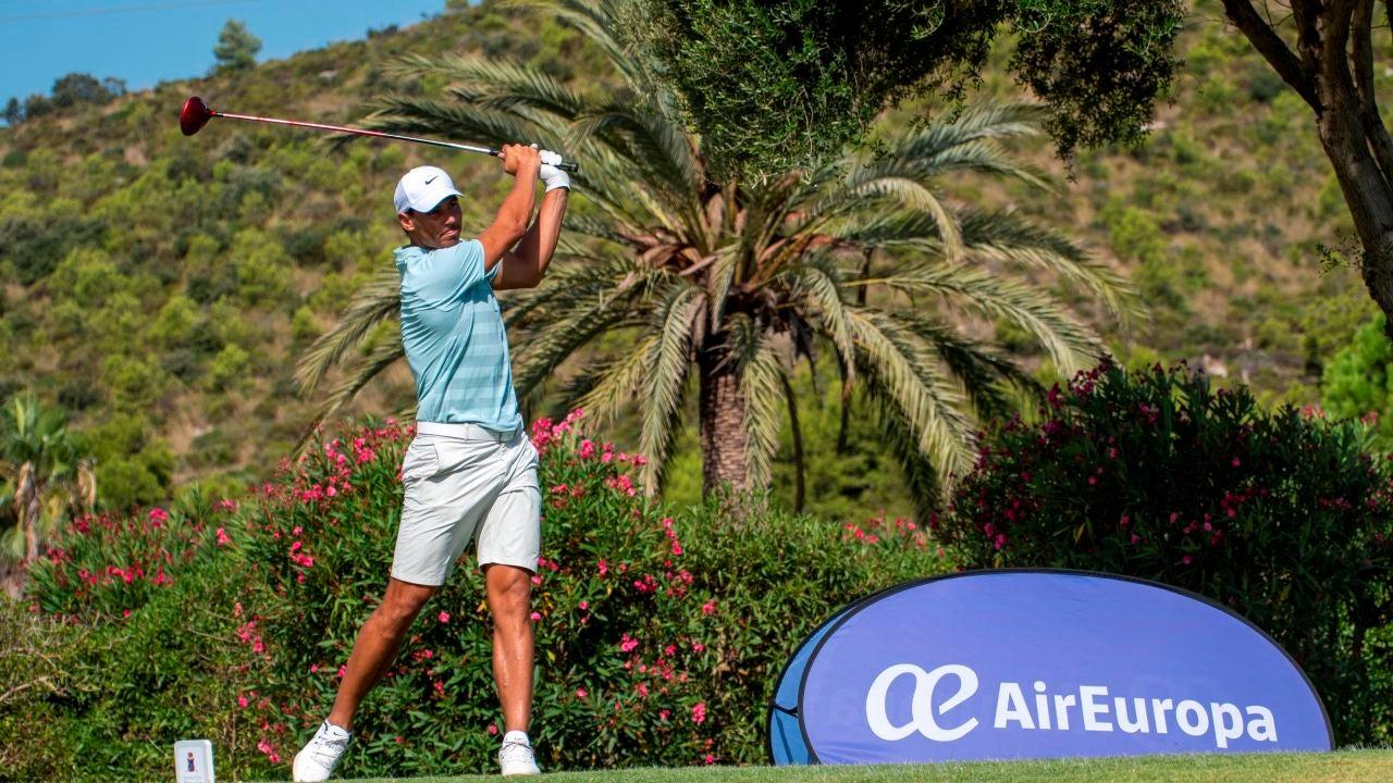Rafa Nadal, durante el Campeonato de Baleares de golf