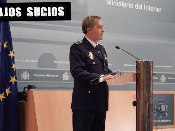Eloy Quirós en su jura como comisario general de Policía Judicial