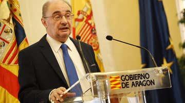 El presidente, Javier Lambán, en rueda de prensa