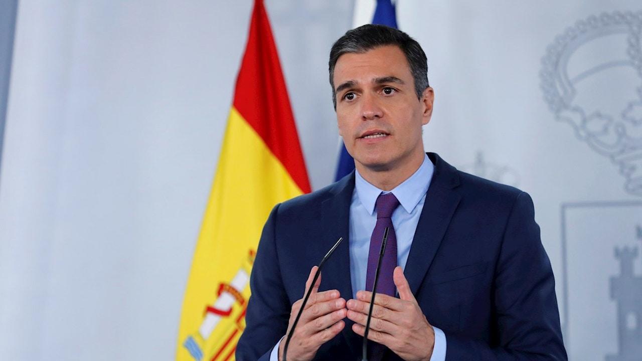 Rueda de prensa de Pedro Sánchez en Moncloa