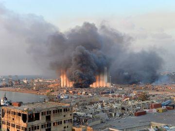 La columna de humo era visible desde todos los puntos de la ciudad.