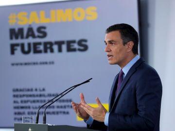 Pedro Sánchez comparece en rueda de prensa desde Moncloa