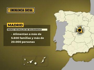 Emergencia social en España: así es el mapa de la solidaridad creado tras la pandemia de coronavirus