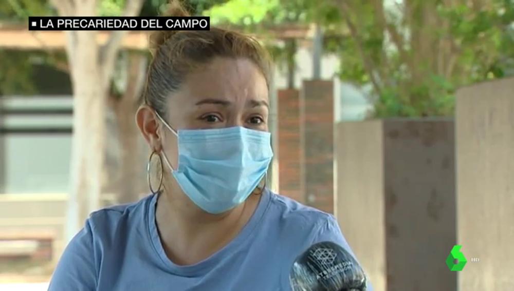 Ana Patricia Blandón, hermana del jornalero fallecido en Lorca.