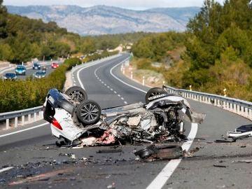 Imagen de archivo de un accidente mortal en carretera.