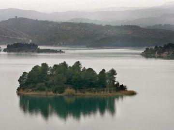 Vista del pantano de Sitjar en Onda (Castellón)
