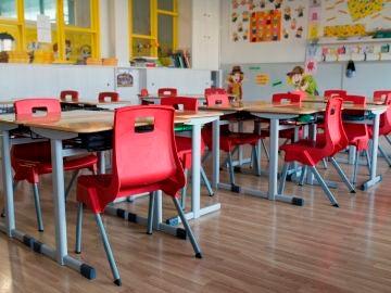 Aula vacía de un colegio