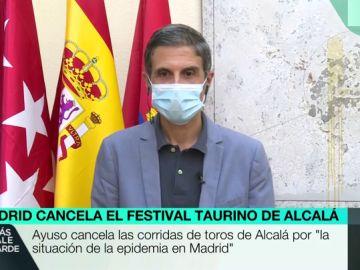 """Habla el alcalde de Alcalá de Henares: """"Ayuso dijo que desaconsejaba la corrida de toros, pero hay que gobernar y tomar medidas"""""""