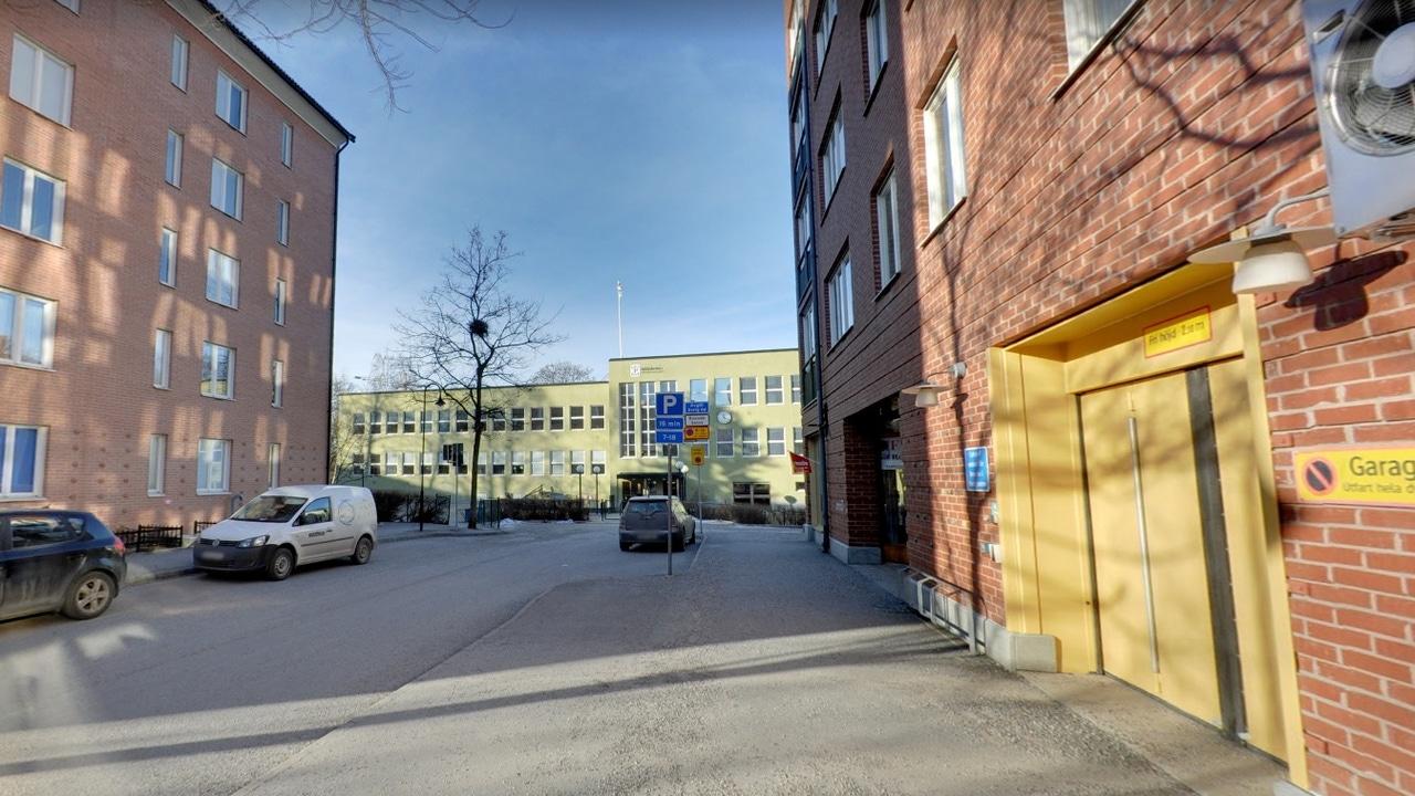 Una de las calles de Solna, en Suecia