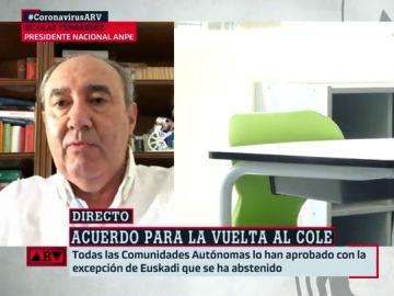 Nicolás Fernández, presidente nacional del Sindicato de Profesores ANPE