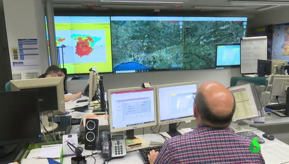 Imagen del Centro Nacional de Coordinación de Incendios Forestales