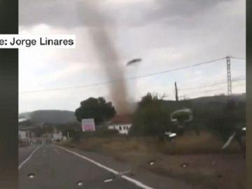 Imagen de un tornado en España en pleno mes de agosto
