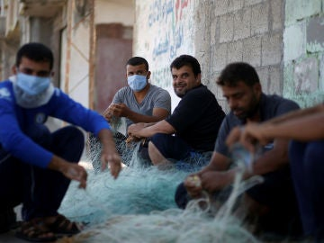 Habitantes de Gaza, durante la crisis del coronavirus