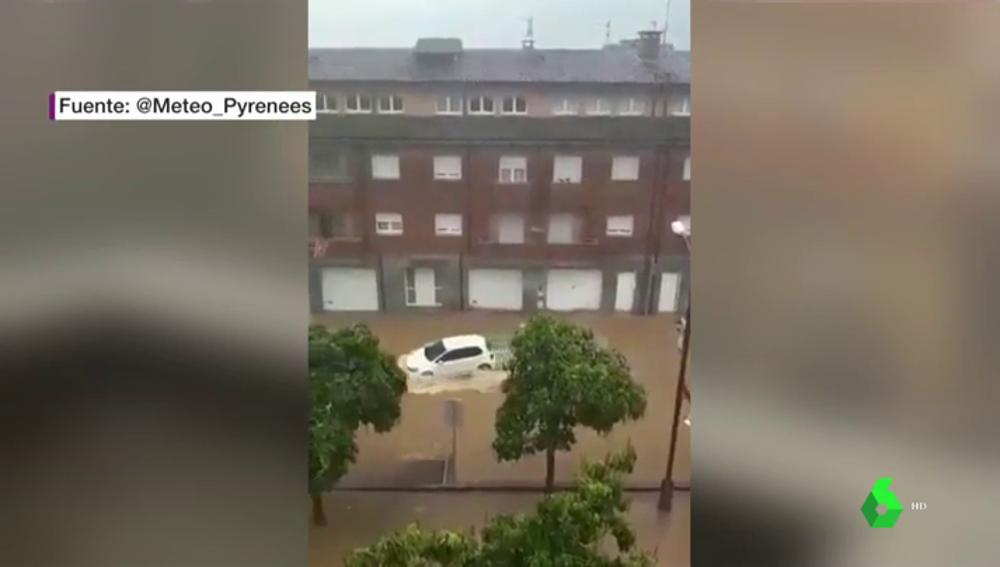 Imagen de lluvias torrenciales en Ripoll