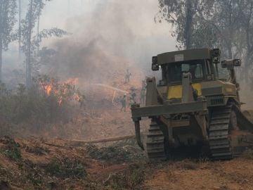 Imagen del incendio en Almonaster la Real