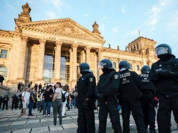 Imagen del edificio del Reichstag, la sede del Parlamento alemán
