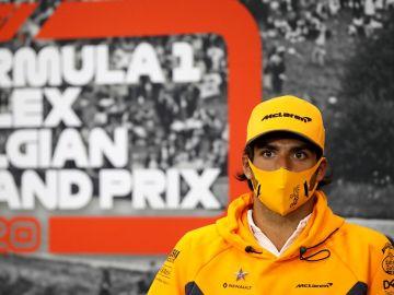 Carlos Sainz, en Bélgica