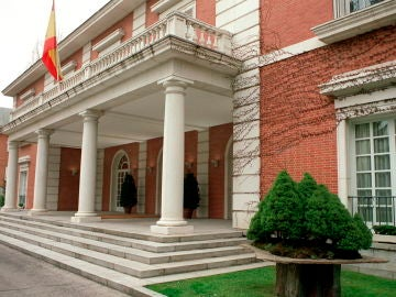 Vista de la fachada del Palacio de la Moncloa