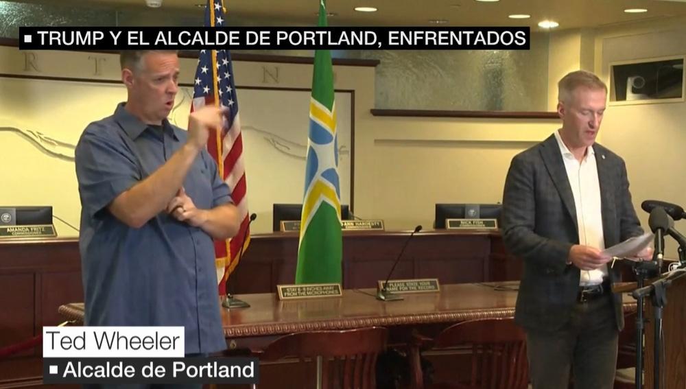 El alcalde de Portland (Oregón) culpa a Trump de la escalada de tensión en Estados Unidos