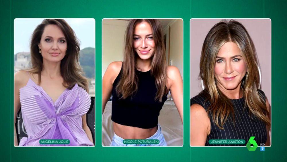 "así es Nicole Poturalski, la ""mezcla perfecta"" entre Angelina Jolie y Jennifer Aniston"