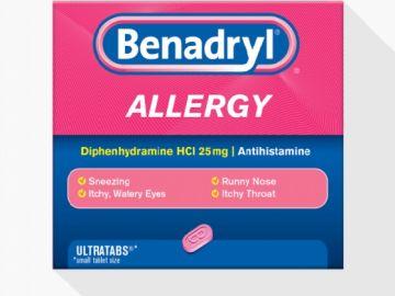 Benadryl, medicamento contra la alergia