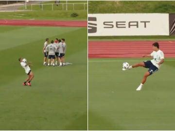 Thiago y Rodri Hernández con la Selección