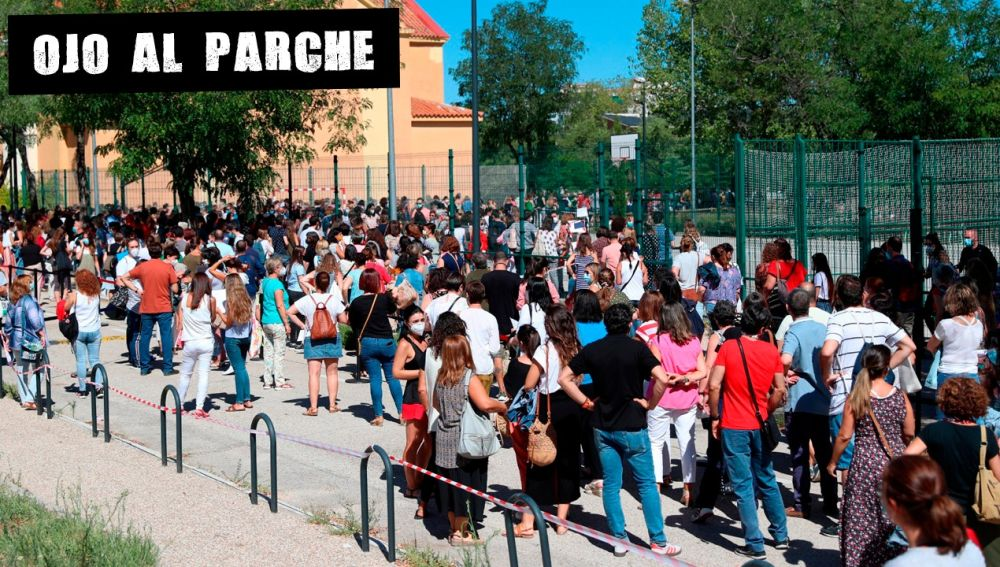 Colas de profesores en Madrid para realizarse pruebas de coronavirus