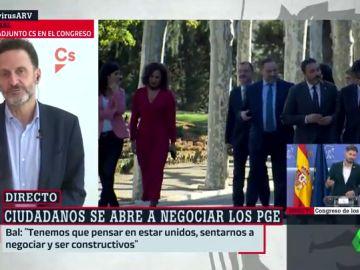 """Edmundo Bal (Cs), tras la reunión de Arrimadas y Sánchez: """"Ha quedado claro que no somos socios del Gobierno"""""""
