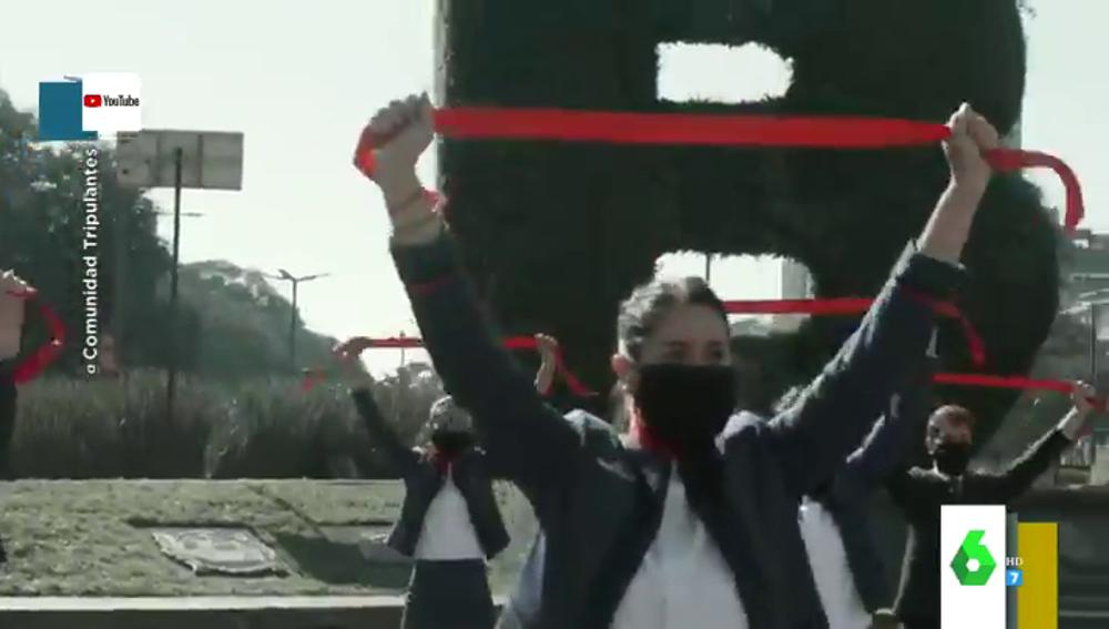 Vídeo viral: el espectacular flashmob con el que los tripulantes de Latam se manifiestan contra los despidos