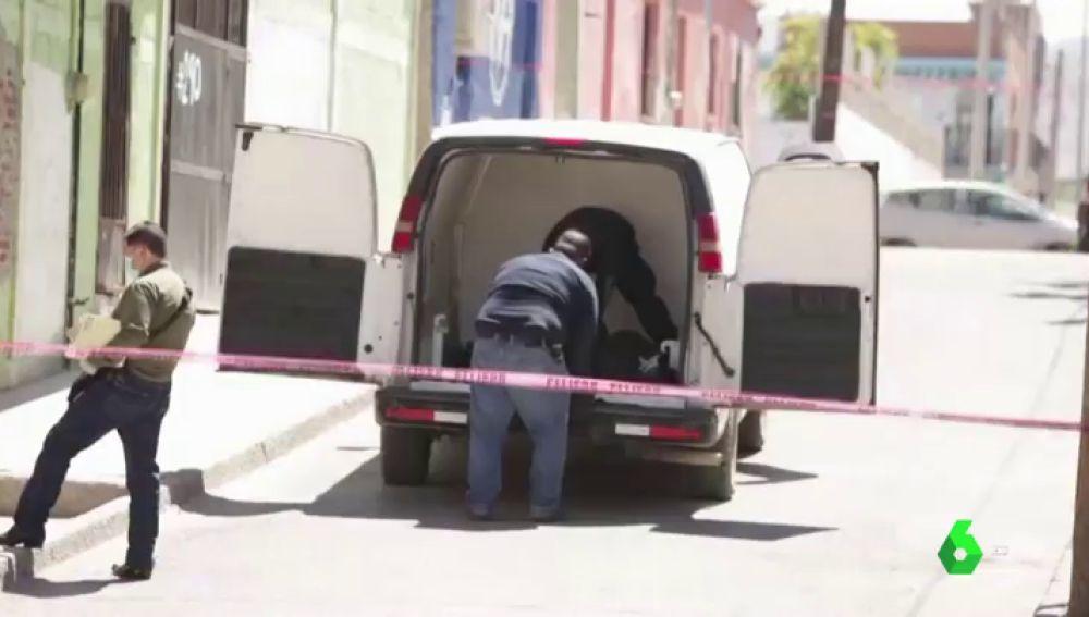Imagen del lugar donde fue encontrada una mujer transexual en México