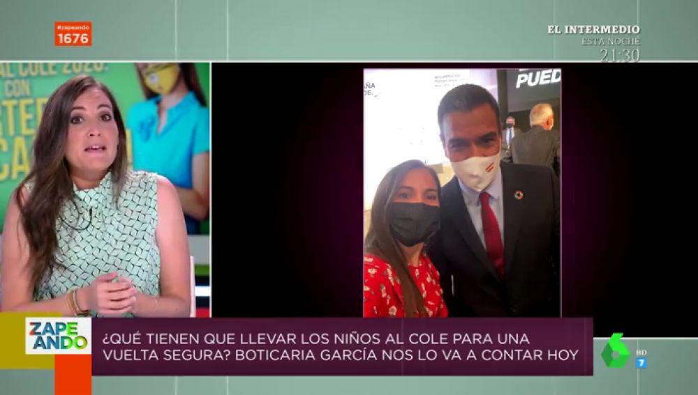 """Boticaria García, sobre su charla con Sánchez: """"Es alto, apuesto y fue muy receptivo, ya me han llamado de Sanidad"""""""