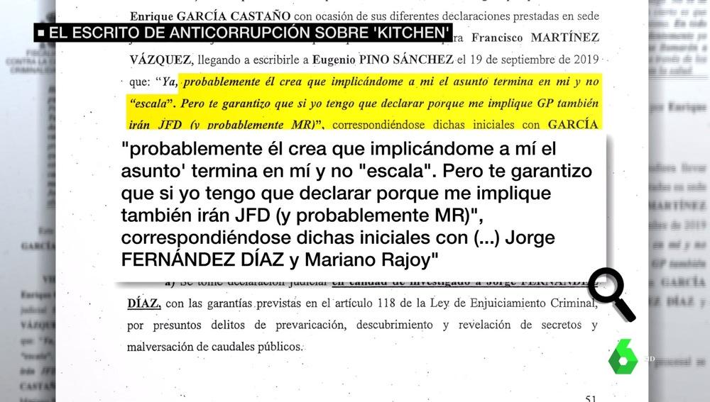 Escrito de Anticorrupción al que ha tenido acceso laSexta