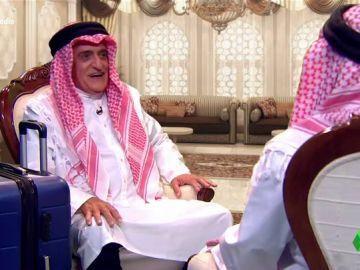 """La intima 'conversación' entre Wyoming y el rey Juan Carlos en Abu Dhabi: """"¿Qué es eso de trabajar?"""""""