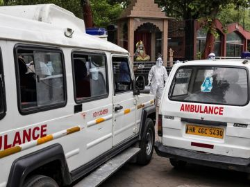 Ambulancia en la India