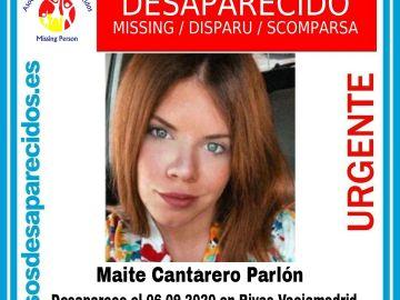 Imagen de la joven desaparecida y hallada muerta