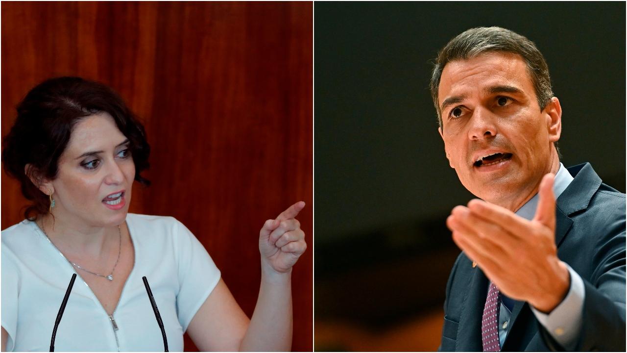 En la imagen, Isabel Díaz Ayuso y Pedro Sánchez