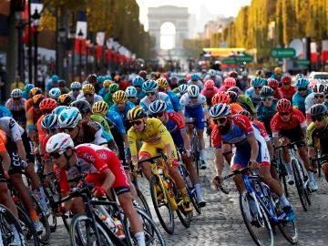 El pelotón del Tour de Francia