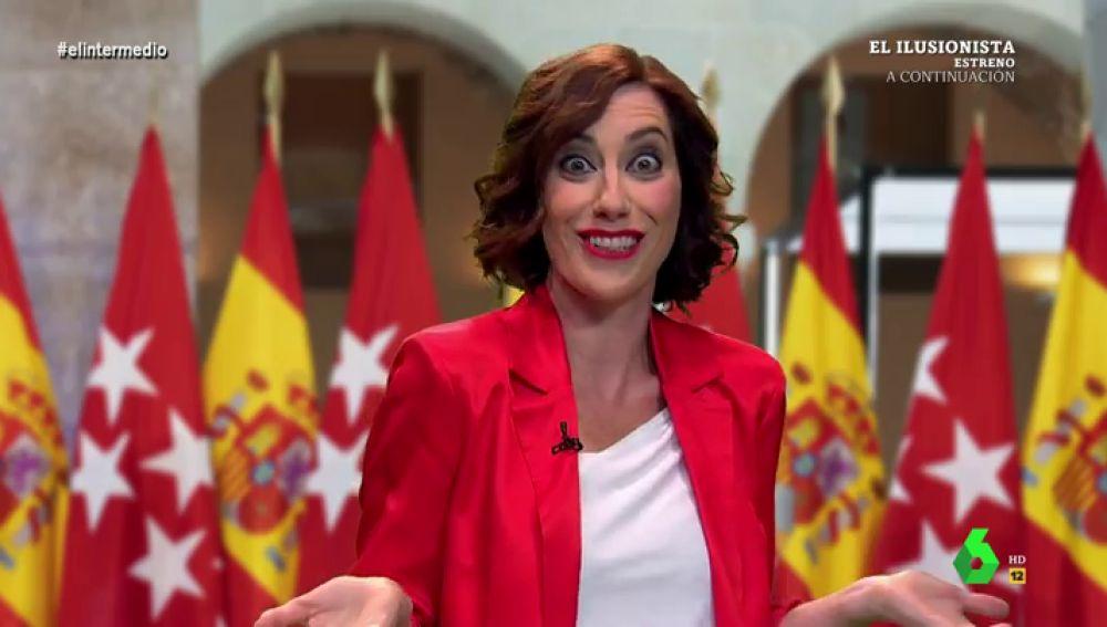 """El vídeo de Ayuso minutos antes de su rueda de prensa: """"Madrid acoge a todos, menos a inmigrantes, menas y okupas"""""""