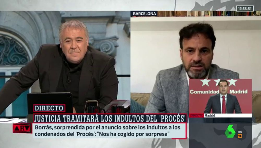 """Jaume Asens (Unidas Podemos): """"Si el indulto tiene sentido para algún caso es para el del procés"""""""