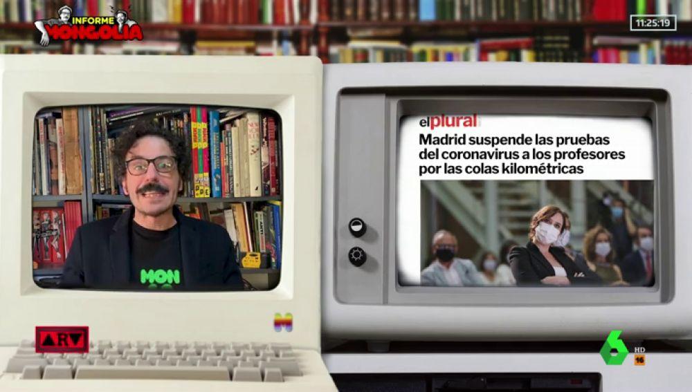 """Mongolia, sobre el """"clasismo sanitario"""" de Madrid: """"Ayuso todavía no se ha enterado de que hay que contratar más médicos"""""""