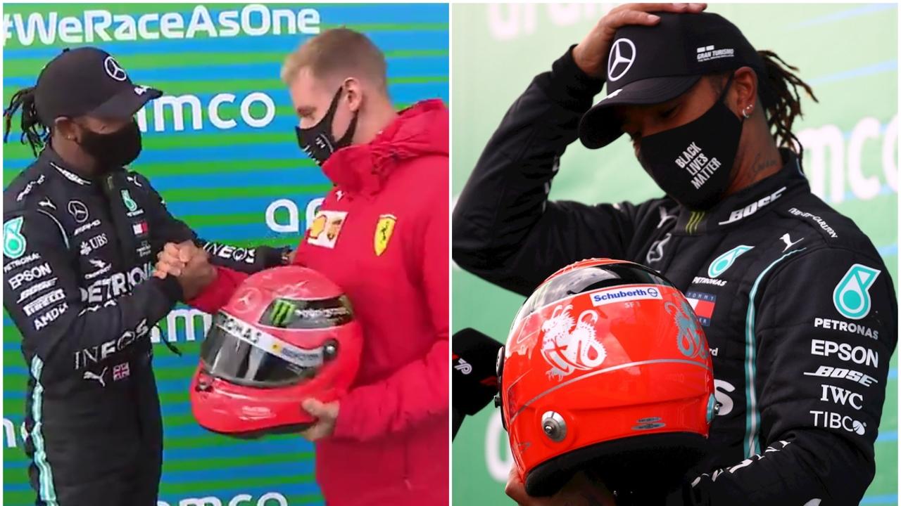 Lewis Hamilton y Mick Schumacher