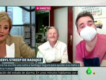 Liarla Pardo sorprende a Teresa, la abuela que escribe a famosos y graba vídeos virales para ayudar a su nieto a encontrar trabajo