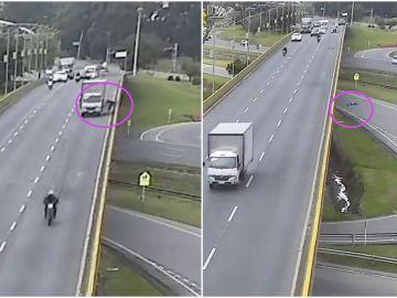 Un camión atropella a un ciclista