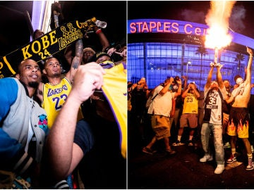 Celebración del anillo de los Lakers en Los Ángeles