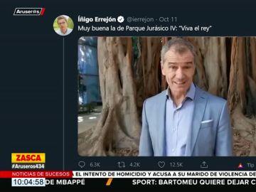 La crítica de Íñigo Errejón al vídeo de apoyo a Felipe VI 'viva el rey'