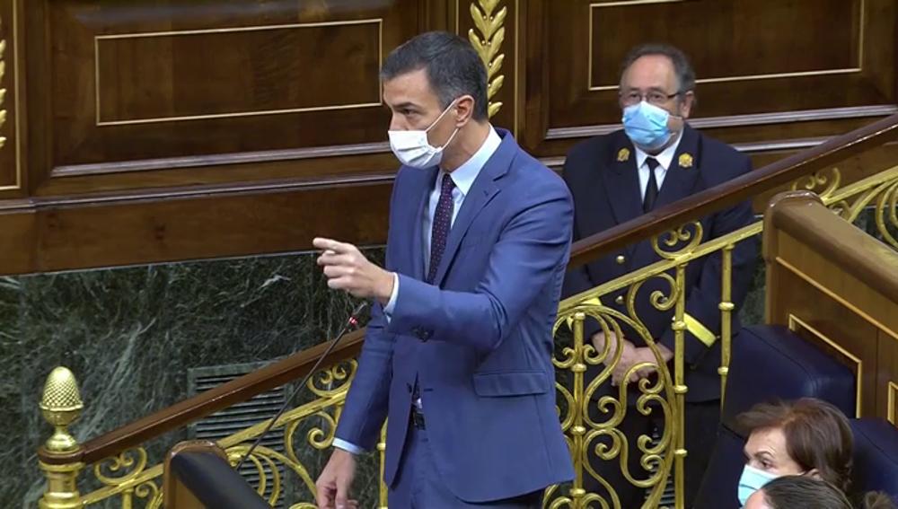 """Sánchez, ante la moción de censura, insta a Casado a """"no dejarse arrastrar"""" por Vox: """"Reflexione, piense qué va a hacer"""""""