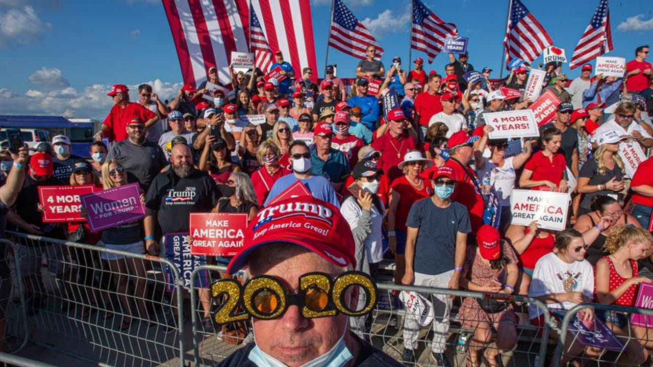Partidarios del presidente de los Estados Unidos, Donald Trump