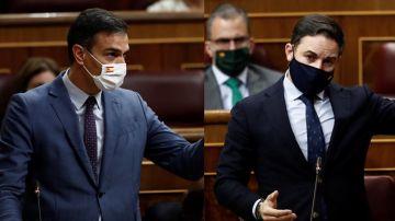 Pedro Sánchez y Santiago Abascal en el Congreso